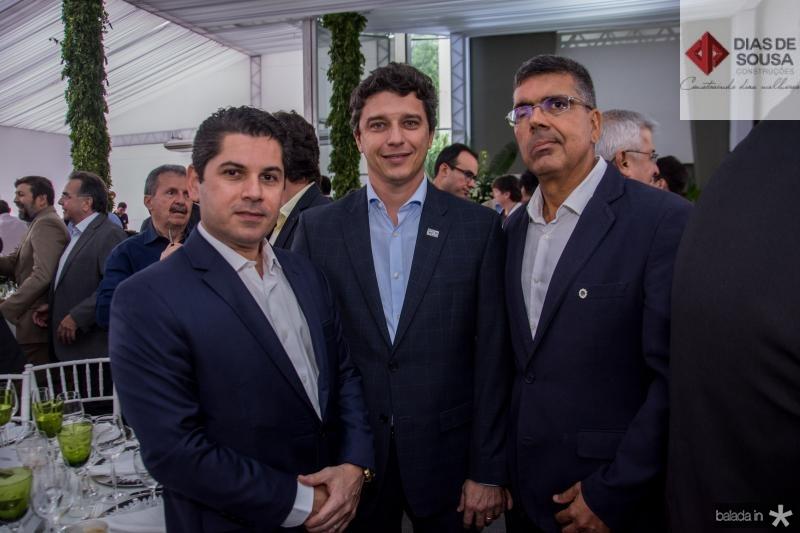 Pompeu Vasconcelos, Andre Siqueira e Lauro Chaves