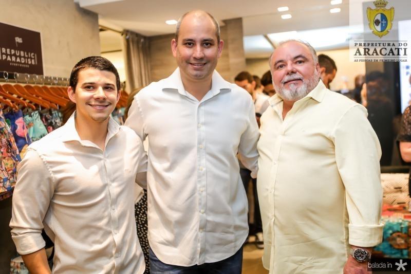 Pedro Negrao, Andre Linheiro e Pedro Carapeba