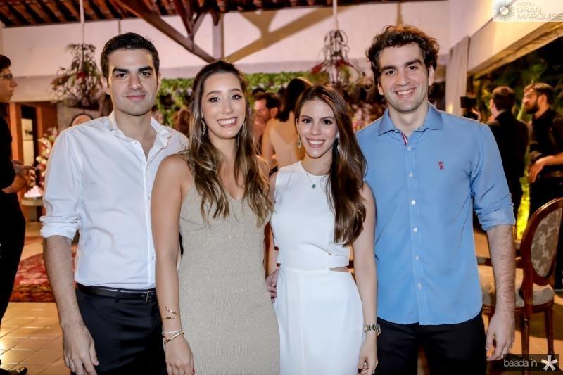 Rodrigo Nogueira, Manoela Melo, Manoela Rolim e Rafael Nogueira