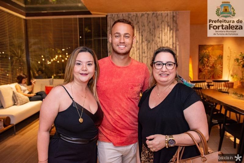 Amanda Arruda, Rodolfo Joaquim e Mirela Bessa