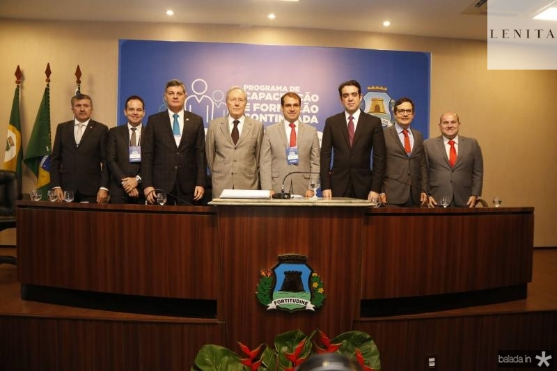 Antonio Henrique, Luiz Claudio, Cid Marconi, Ricardo Lewandowiski, Salmito Filho, Julio Dantas, Edilberto Pontes e Roberto Claudio 1