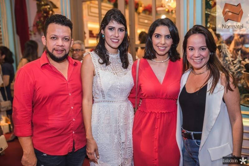 Roberto Alves, Flavia Laprovitera, Carla Laprovitera e Manoela Bezerra