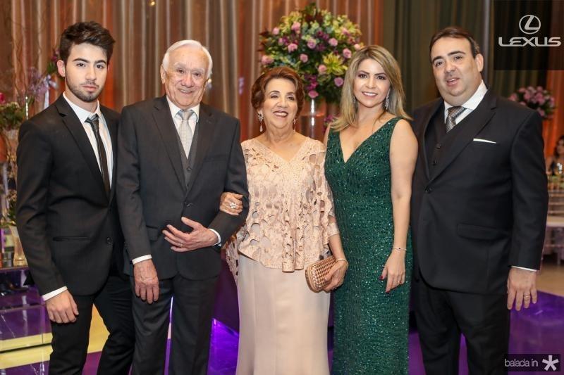 Joao Guilherme, Maia, Nubia, Joilza e Joao Claudio Jaco