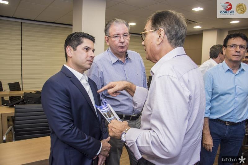 Pompeu Vasconcelos, Ricardo Cavalcante e Beto Studart