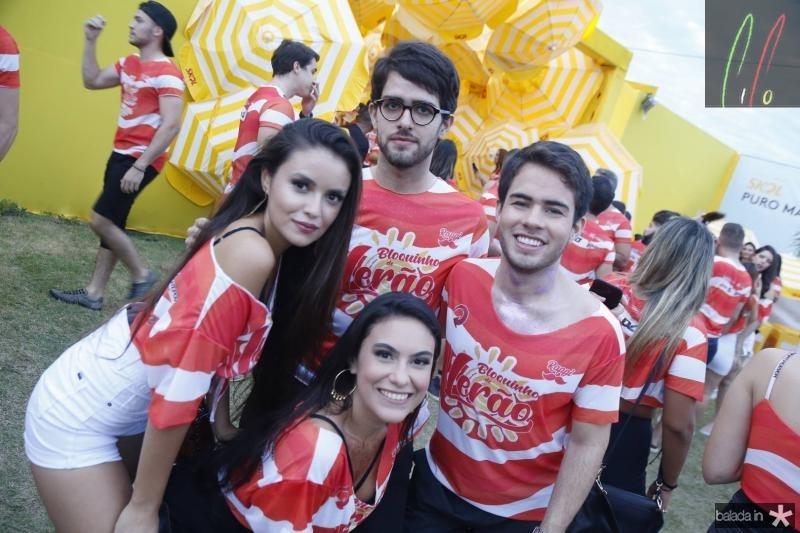 Camila Crisostomo, Mariana Lima, Pedro e Eduardo Rosado