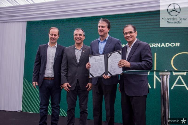 Cesar Ribeiro, Eduardo Levi, Camilo Santana e Beto Studart