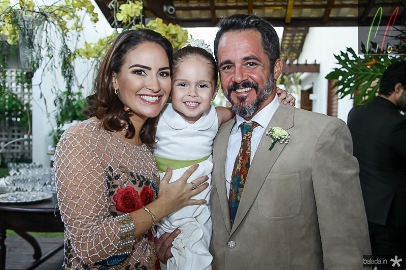 Silvia, Celina e Carlos Brandao