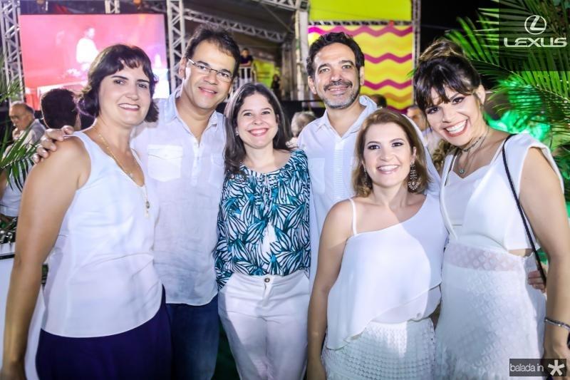 Manoela Nogueira, Marcelo e Roberta Pinheiro, Leonardo Pessoa, Fabielle Pesoa e Carol Bezerra
