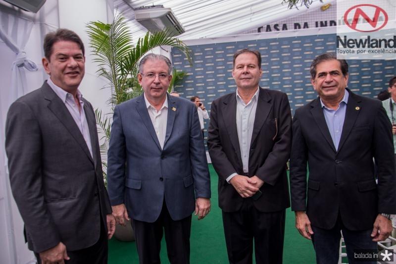 Cid Gomes, Ricardo Cavalcante, Julio ventura e Zezinho Albuquerque