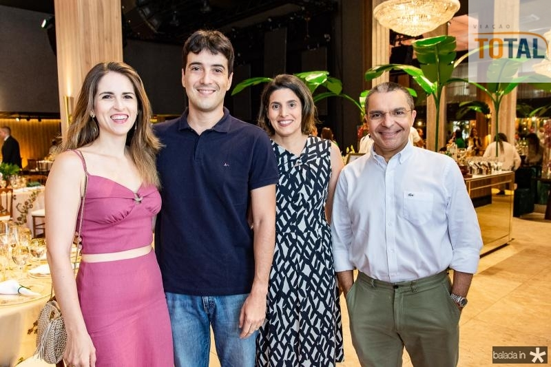 Sara Mota, Gonzalo Mota, Ticiana Demetrio e Daniel Demetrio