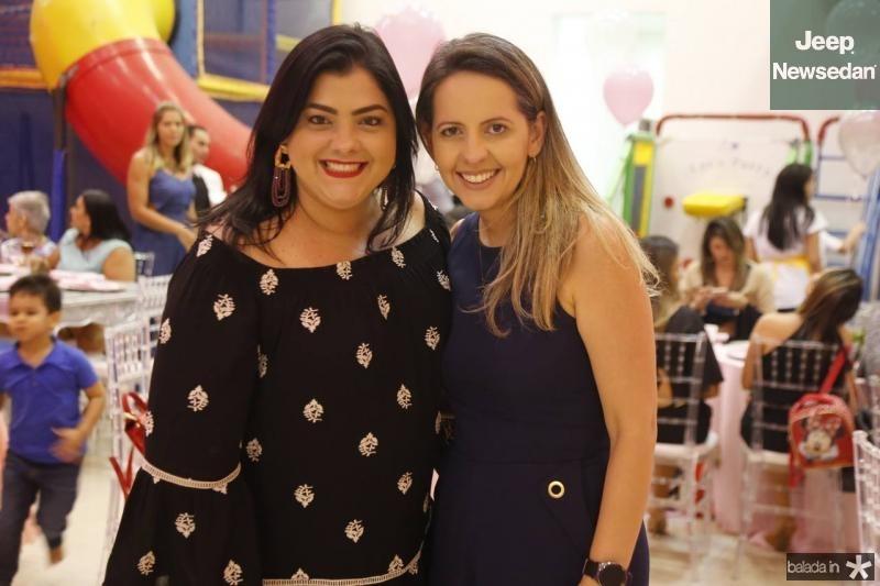 Viviane Almada e Aline Veras