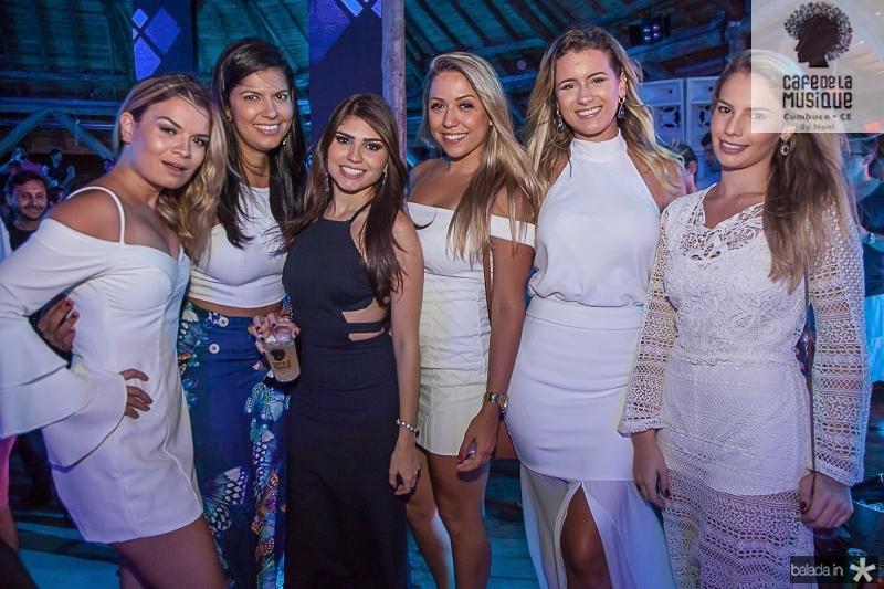 Manu Vieira, Gabriela Lima, Jessica Aragão, Cecilia Echebarra, Fernanda Albuquerque e Sabrina Marques