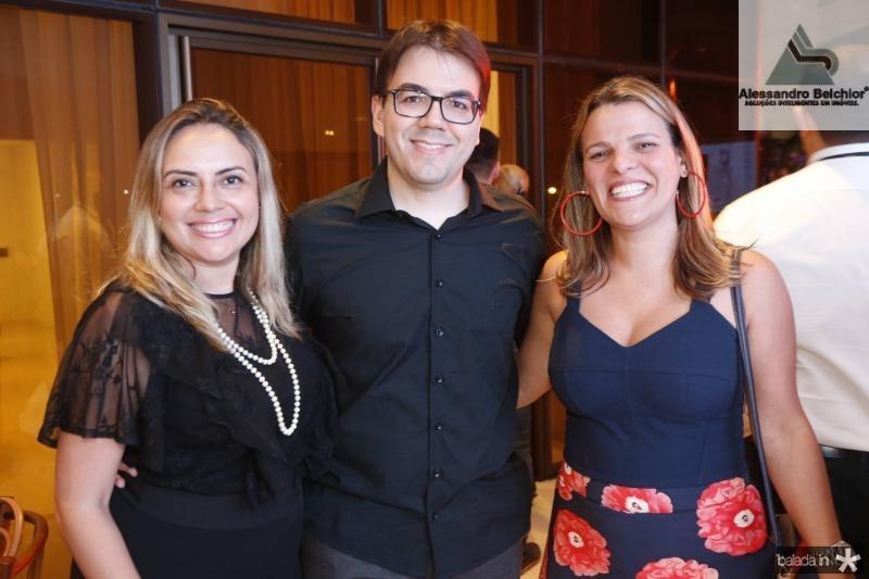 Monica Vieira, Gustavo Rocha e Ivana Pimentel