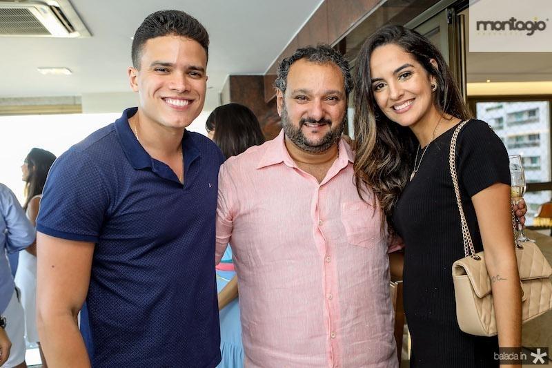 Patriolino Dias com Marcos Lessa e Jeycielle Oliveira