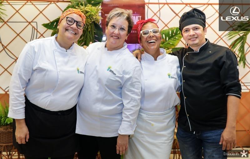 Sandra Luna, Ana Paula Resende, Didda Carneiro e Flavio Costa