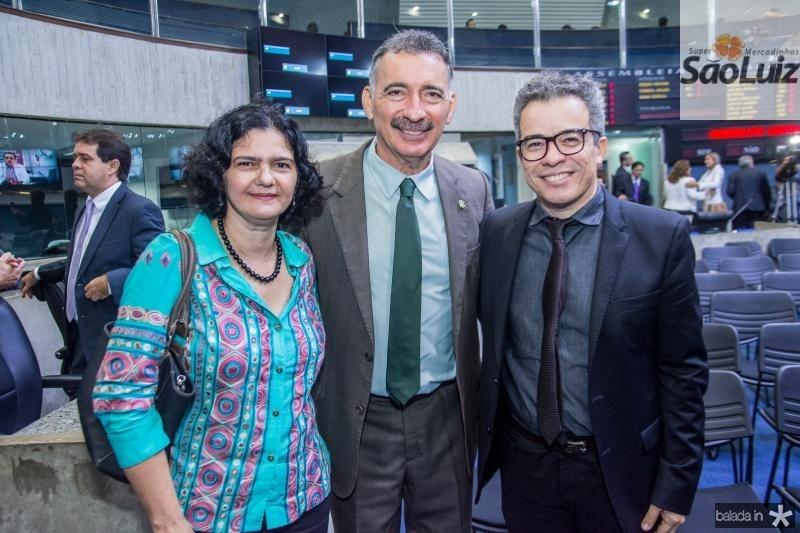Suzete Nunes, Artur Bruno e Fabiano Piuba