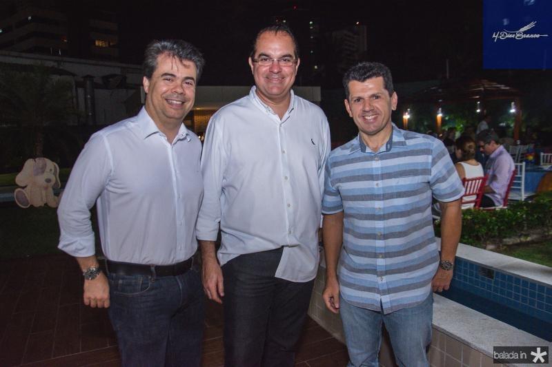 Duda Brigido, Leonardo Albuquerque e Erick Vasconcelos