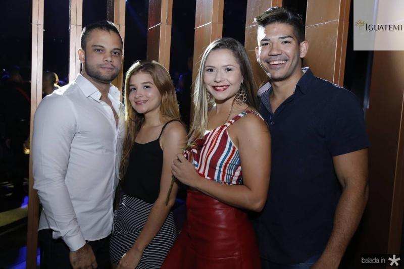 Andre Martins, Fernanda Steffanie, Andressa Mikaele e Iury Medeiros