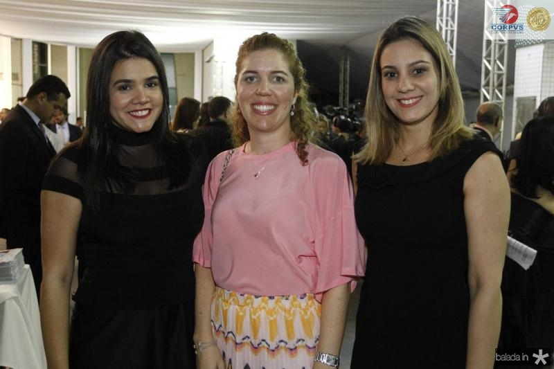 Priscila Leal, Ticiana Queiroz e Roberta Andrade