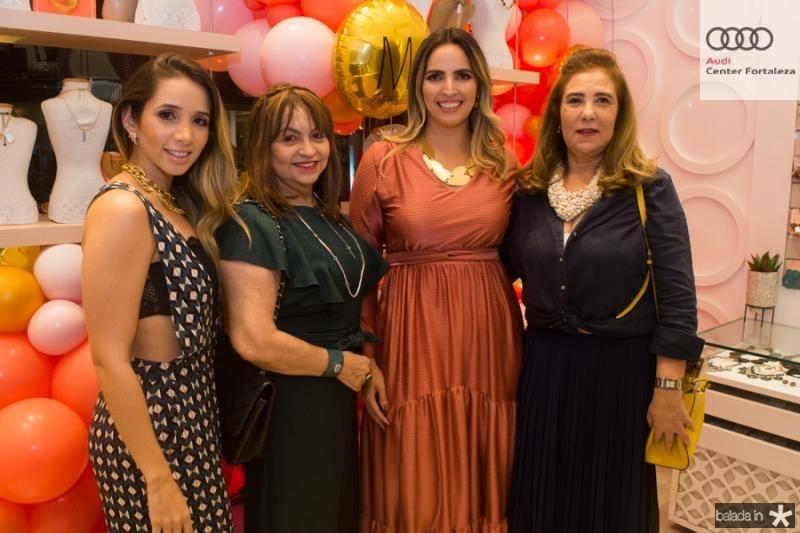 Livia Queiroz, Carmem Cinira, Mariana Queiroz e Joria Araripe