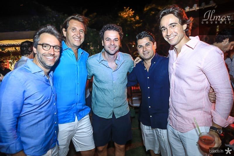 Francisco Marinho, Philipe Brooks, Geraldo Rola, Pompeu Vasconcelos e Rodrigo Carvalho