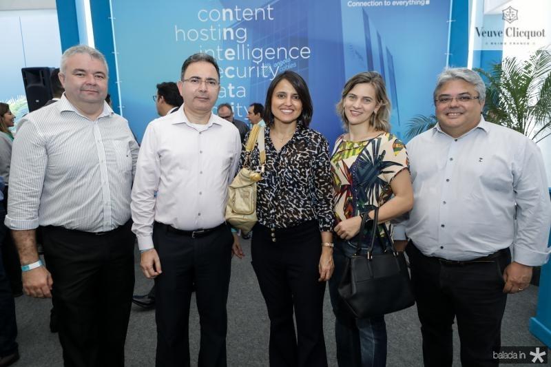 Junior Melo, Lairton Carlos, Karina Leite, Renata Damaceno e Jesuino Freitas