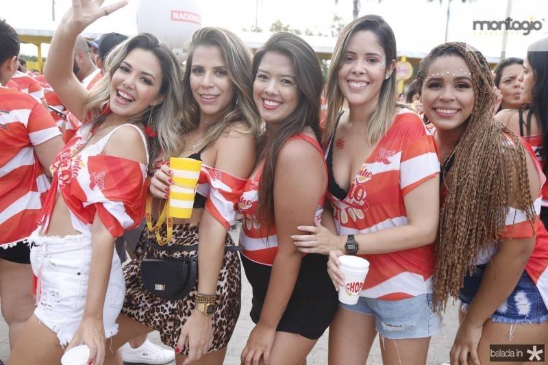 Mariah Moreira, Aspazia Maia, Giselly Caroline, Lia Andrade e Mariane Silva