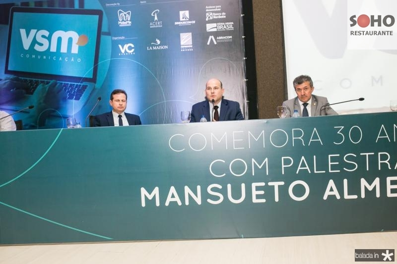 Marcos Andre Borges, Roberto Claudio e Antonio Henrique