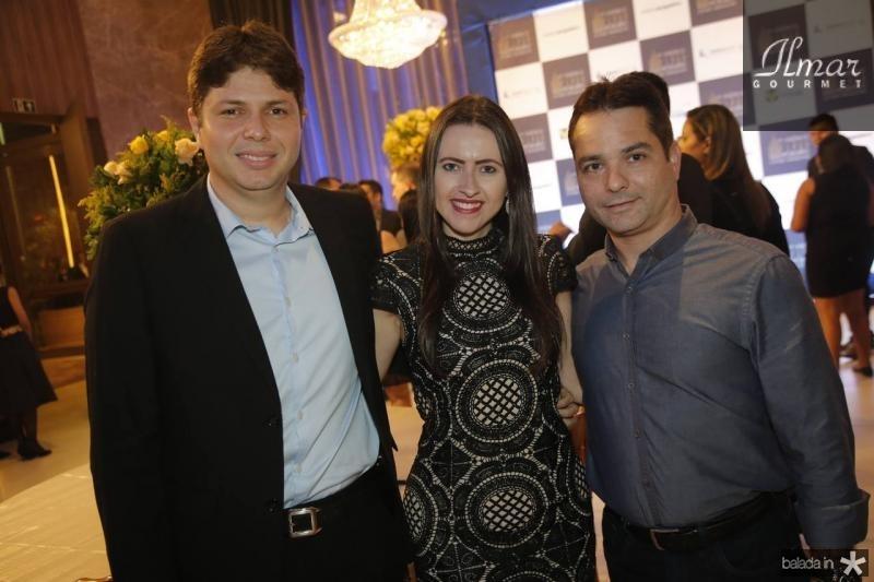 Diogo Silva, Viviane Fracaloci e Filipe Ferreira