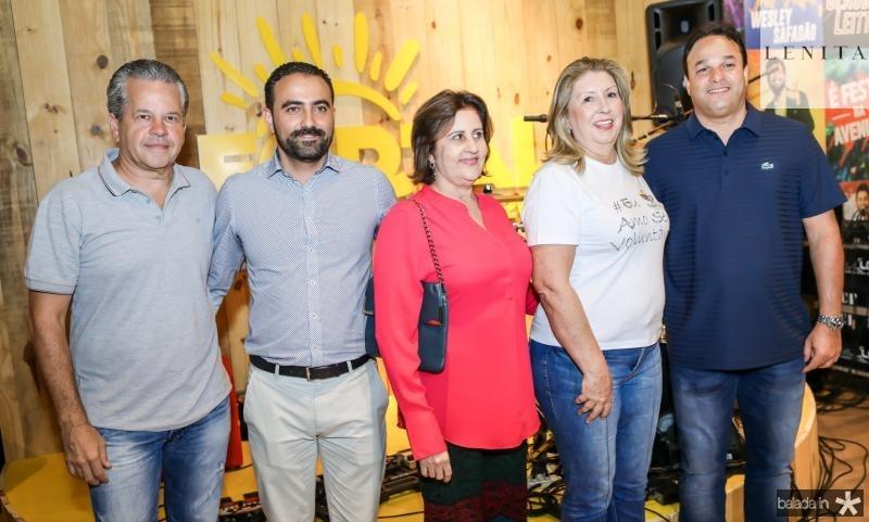 Bira Borges, Reno Veçosa, Liduina Donato, Rosangela Formentin e Enio Cabral