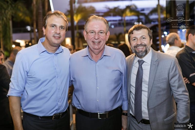 Camilo Santana, Ricardo Cavalcante e Helcio Batista