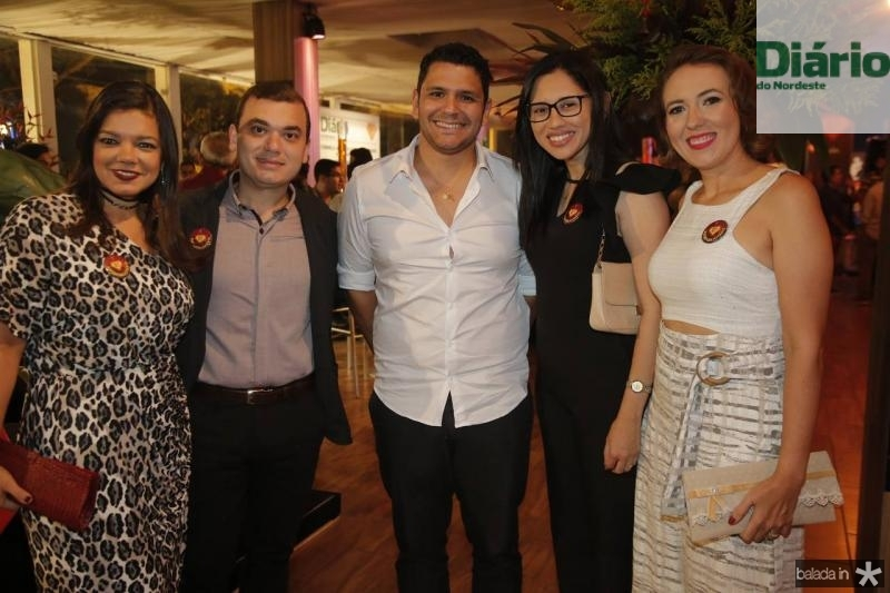 Pollyana Brandao, Fernando Lopes, Dudu Camara, Pamera Cavalcante e Luiza Lacerda