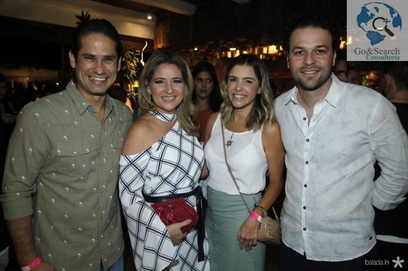 Davi e Patriciana Rodrigues, Liliane e Geraldinho Rola
