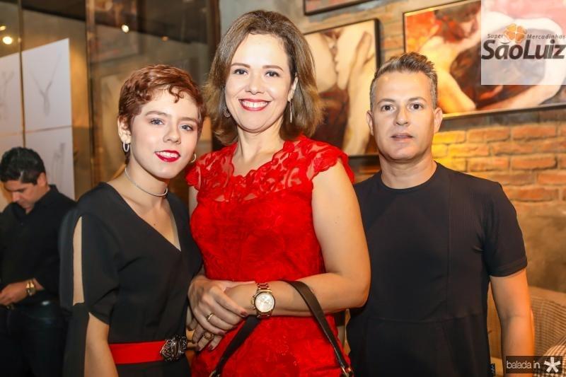 Laiza Gaudino, Aleteia Lopes e Marcelo Albuquerque
