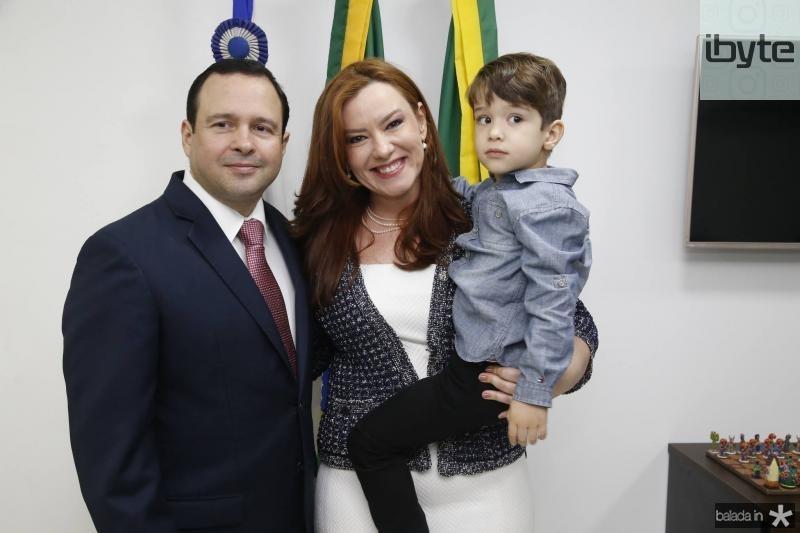 Igor, Aline e Victor Barroso