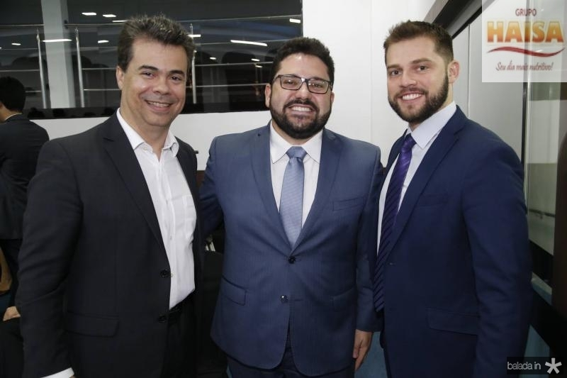 Duda Brigido, Inacio Aguiar e Victor Pedroza