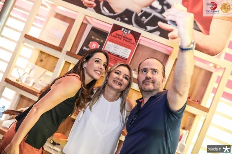 Melissa Arruda, Vanuza Saboia e Roberto Pamplona