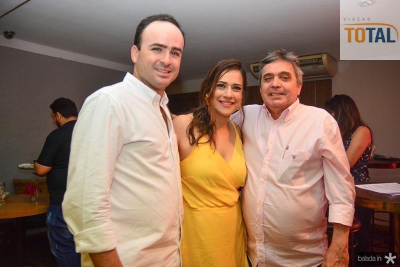 Pedro, Lara Fiuza e Antonio Laprovitera