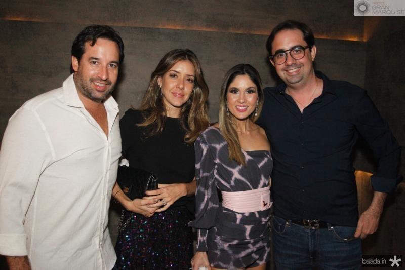 Savio e Larissa Fonte, Manu e Pedro de Castro