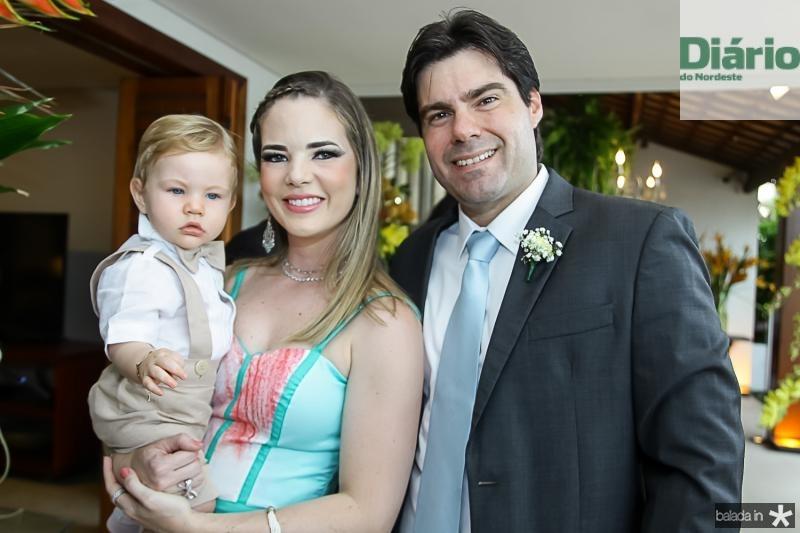 Rafael, Ticiana e Rafael Boris