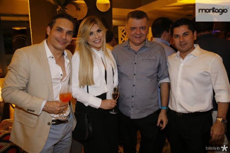 Noredan Pernutti, Genice Brandao, Omar Albuquerque e Pompeu Vasconcelos