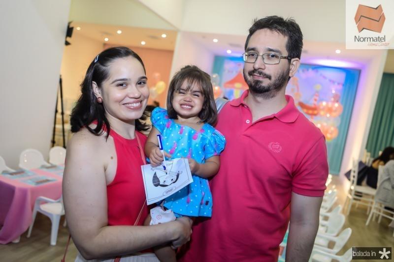 Daiara, Alice e Alexandre Saldanha