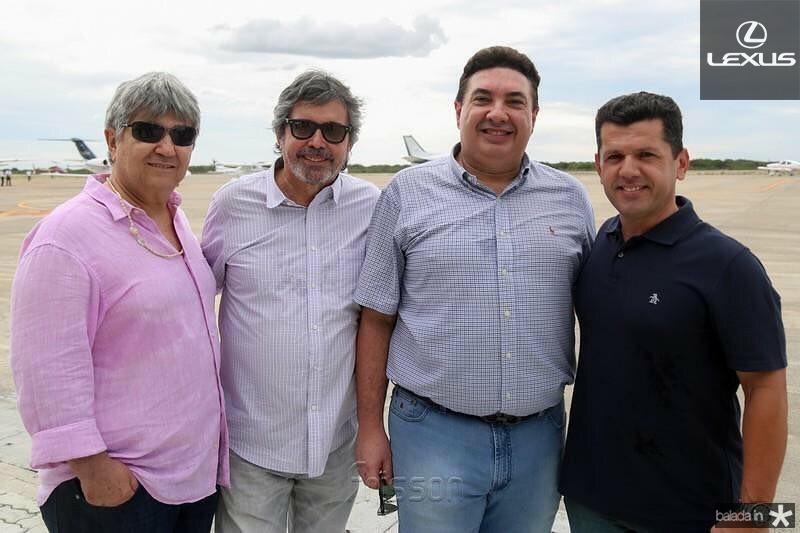 Carlos Benevides, Totonho Laprovitera, Marcos Dias Branco e Erick Vasconcelos