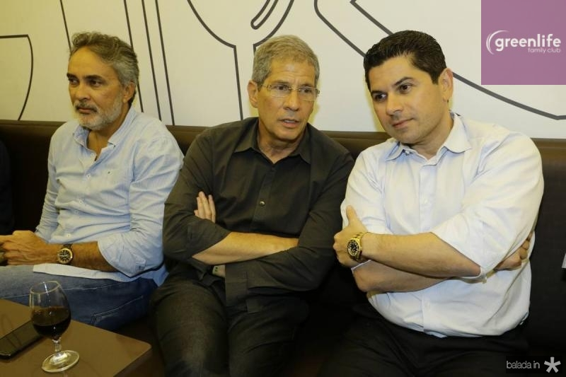 Paulo Angelim, Severino Neto e Pompeu Vasconcelos