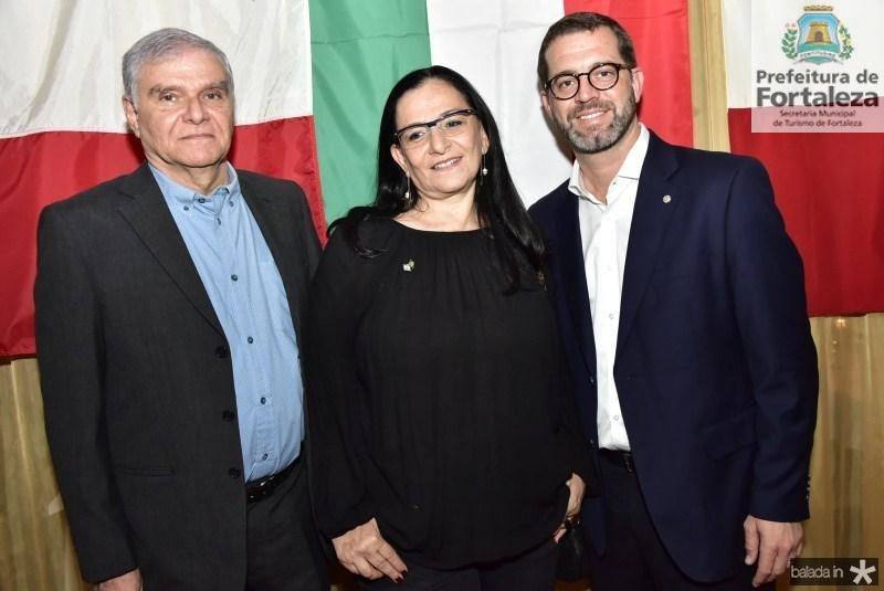 Gilberto e Sheyla Sztutman e Jose Maria Zanocchi
