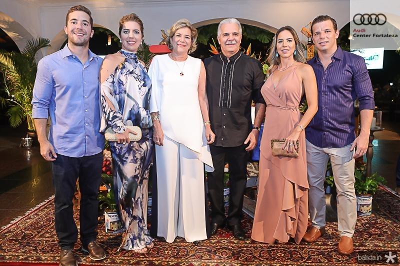 Guilherme, Ticiana, Stela, Pio, Isabella e Andre Rolim