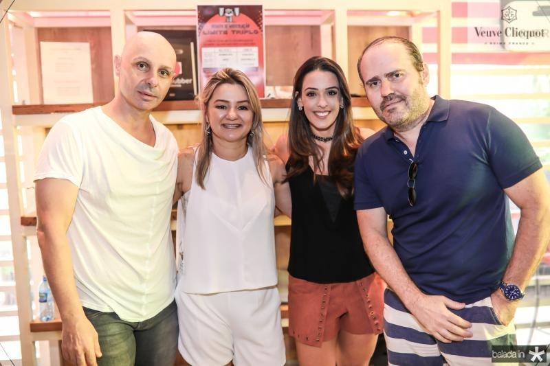 Cristian Olobardi, Vanuza Saboia, Mewlissa Arruda e Roberto Pamplona