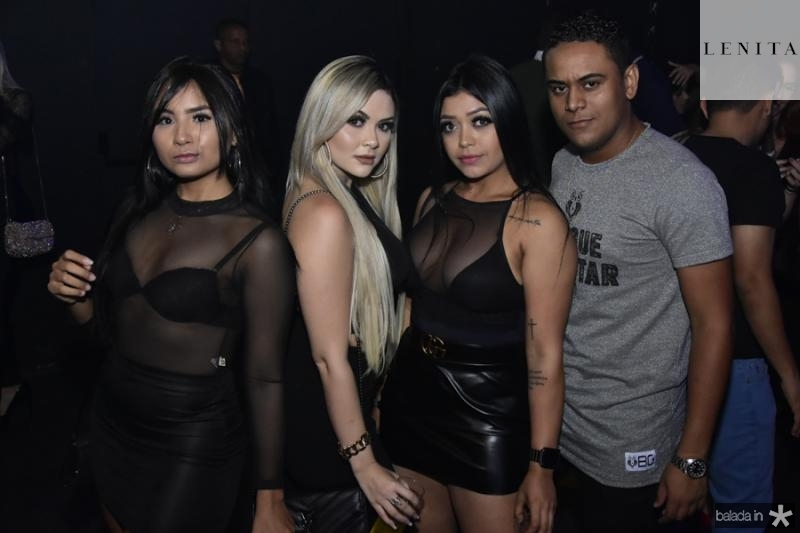 Eveline Sousa, Lorena Portela, Larissa Rodrigues e Junior Monteiro