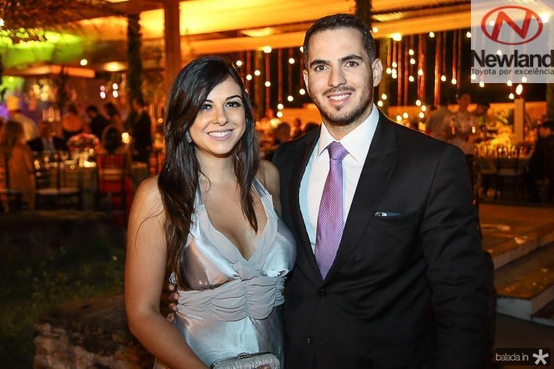 Rebeca Macedo e Rodrigo Maia