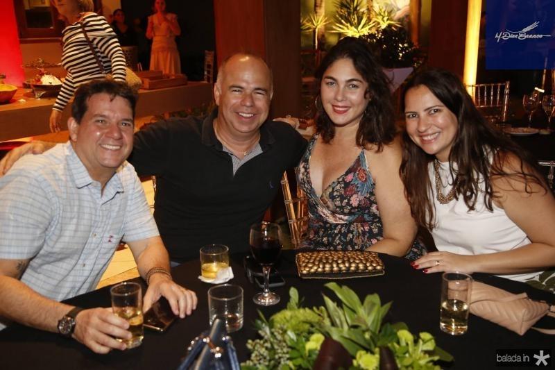 Fabio Junior, Marcio Menezes, Isabella Fiuza e Camila Nobre